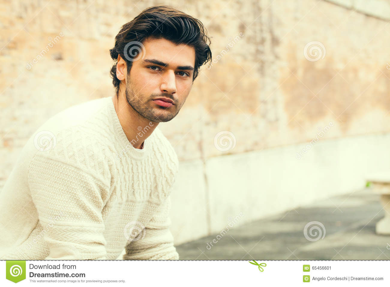 Handsome Beautiful Young Man Outdoor Fashion Hairstyle Boy Looking Stylish Hair Charming Attractive Look Slight Beard