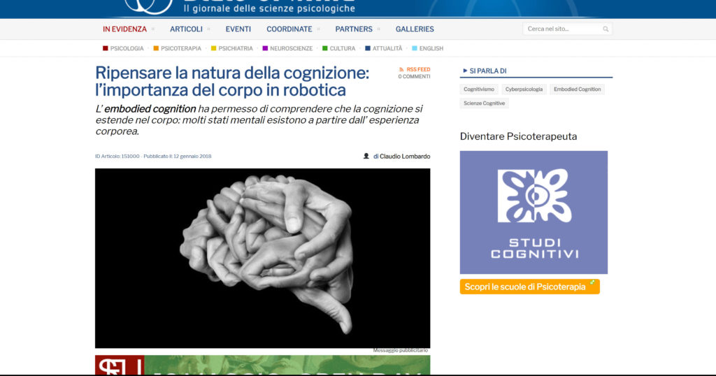 Human Brain Made With Hands Angelo Cordeschi Www.stateofmind.it