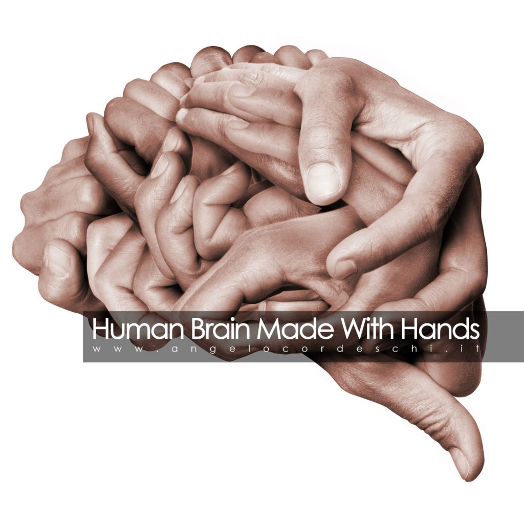 Human Brain Made With Hands Colori Angelo Cordeschi