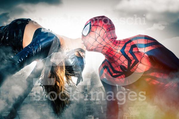 Spiderman Catwoman New York