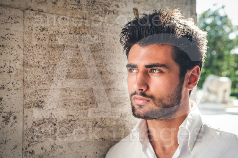 Handsome Young Man Portrait Intense Look And Eye Catching Beauty