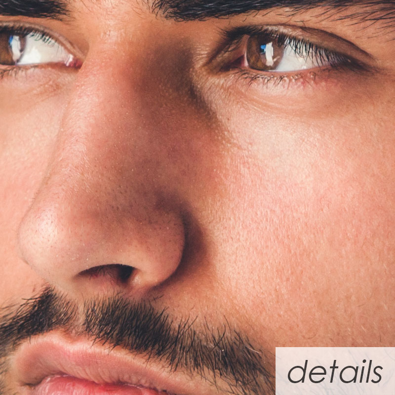 Handsome Young Man Portrait Intense Look And Eye Catching Beauty Details