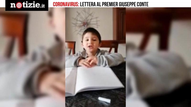 Coronavirus, Lettera Di Un Bimbo A Conte Vorrei Andare A Mare, Vieni Con Me Notizie It