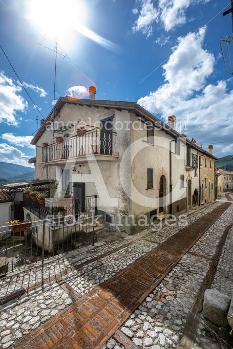 Ancient Medieval Italian Village With Houses Built With Stones. Angelo Cordeschi