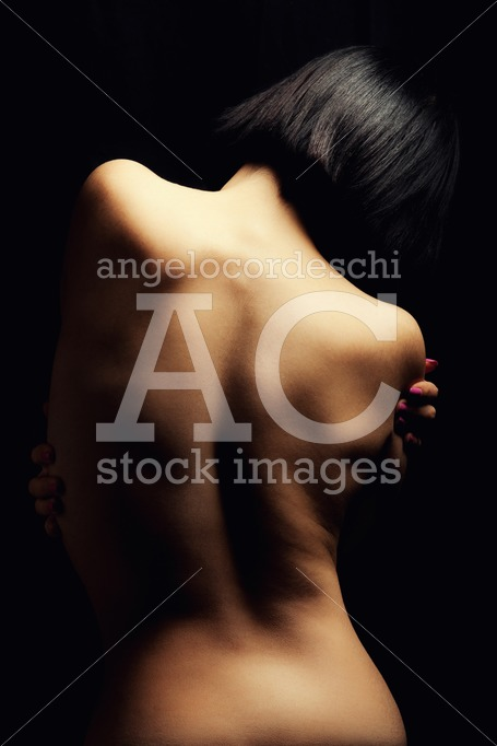 Back of woman. Portrait of the naked back of a young woman. Bobb - Angelo Cordeschi