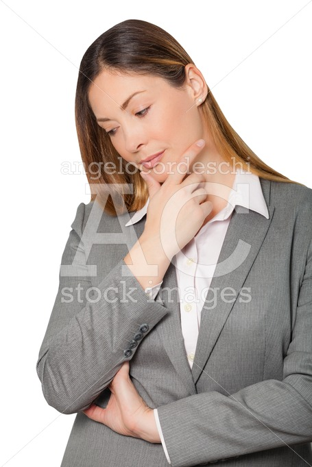 Beautiful Pensive Businesswoman Woman, With Professional Attire. Angelo Cordeschi