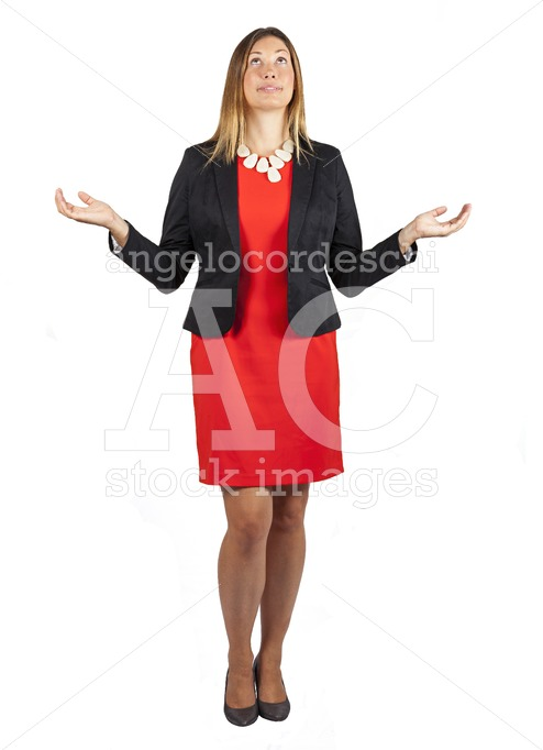 Beautiful woman isolated on white background with arms and hands - Angelo Cordeschi