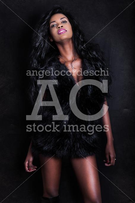 Beautiful Young African American Seductive Black Model Woman On Angelo Cordeschi