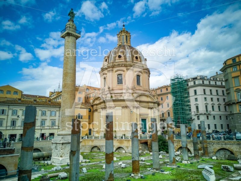 Church Of The Most Holy Name Of Mary At The Trajan Forum And The Angelo Cordeschi