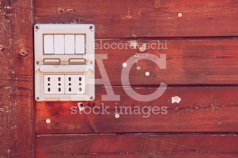 Dark Red Wooden Background With Ruined And Worn European Electri Angelo Cordeschi