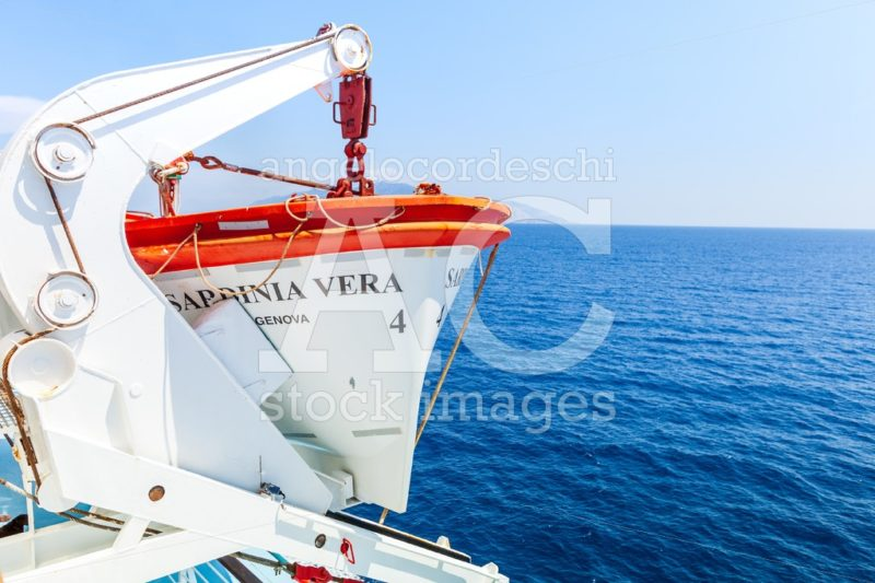 Piombino, Italy. July 25, 2018: Tourism Ship, Ferry From Piombin Angelo Cordeschi