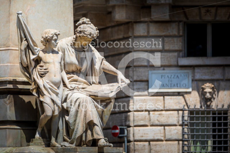 Statue in the historic center of Rome in Italy. - Angelo Cordeschi