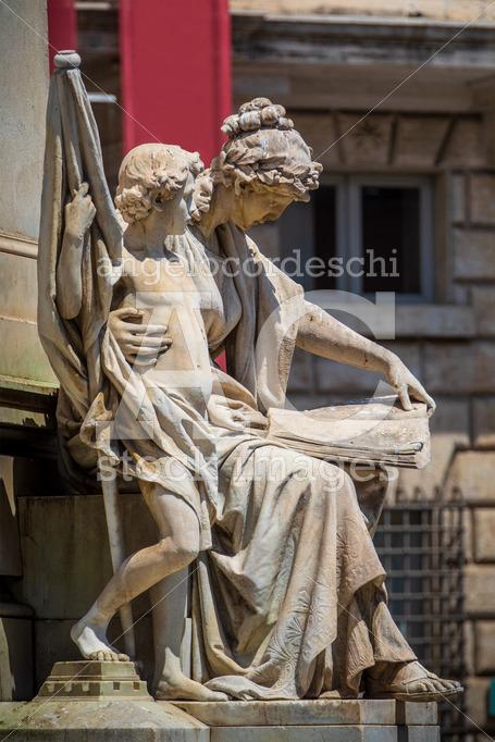 Statue in the historic center of Rome in Italy. Representation o - Angelo Cordeschi