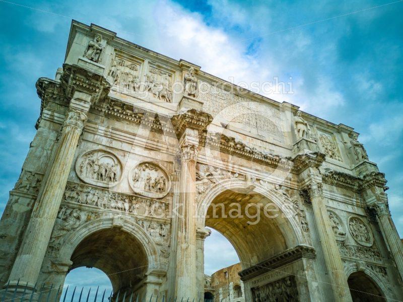 The Arch Of Constantine (Italian: Arco Di Costantino). Triumphal Angelo Cordeschi