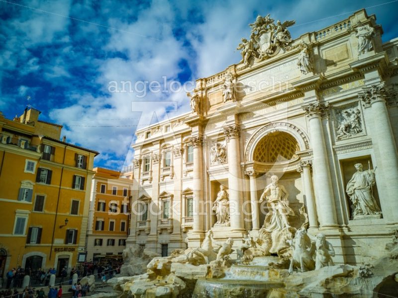 Trevi Fountain In Rome, Italy. It Is The Largest Baroque Fountai Angelo Cordeschi